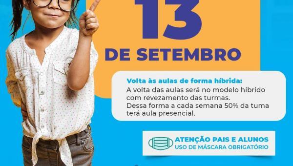 A volta às aulas em Muricilândia é dia 13 de setembro
