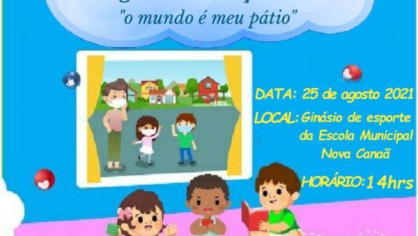 """Lançamento do projeto primeira infância , do Programa Criança Feliz """" o mundo e meu pátio""""."""